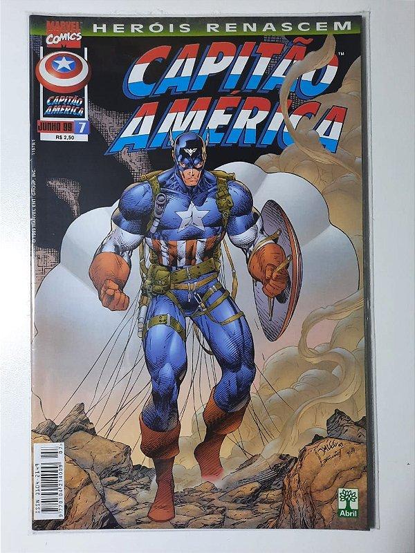 Gibi Capitão América Nº 7 - Herois Renascem Autor Abril (1999) [usado]