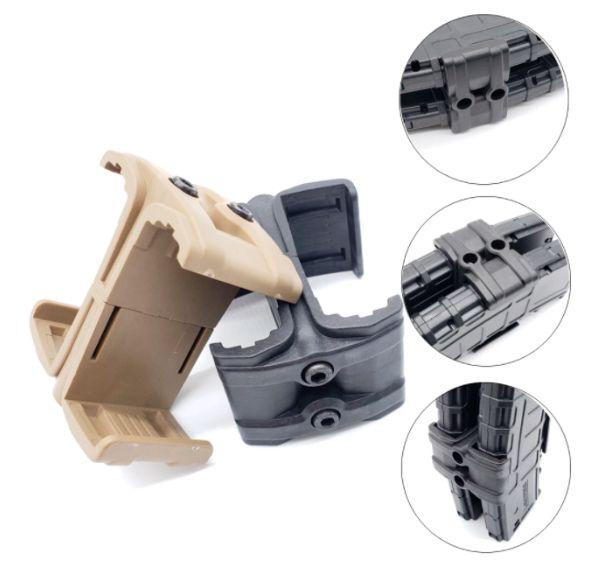 Clip Para Unir Carregadores Fuzil T4 M4 M16 Ar15 223 556 TAN