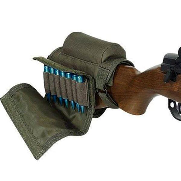 Kit Coronha Porta Munição Suporte Apoio Carabina Rifle Green
