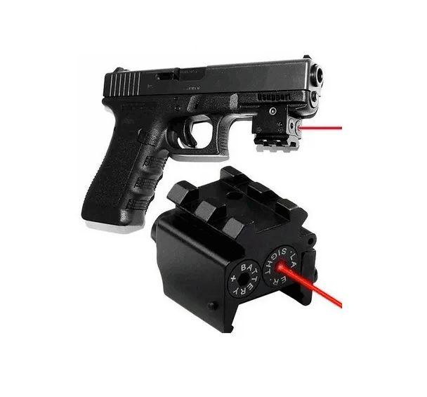 Mini Laser Picatinny Pistola Rifle Mira Vermelho Airsoft