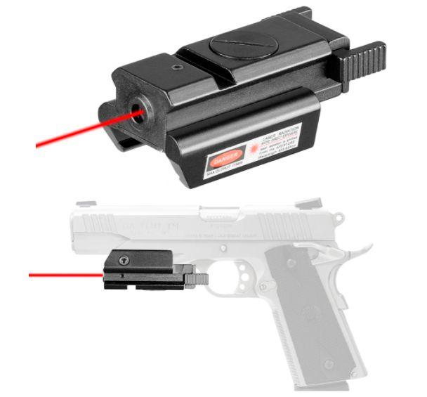 Red Laser Compacto Aluminum Usa Mira Pistola Fuzil Airsoft