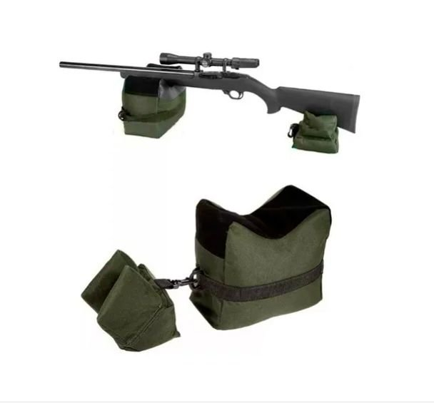 Kit Apoio Suporte Para Rifle Carabina Espingarda Ca Sand Bag