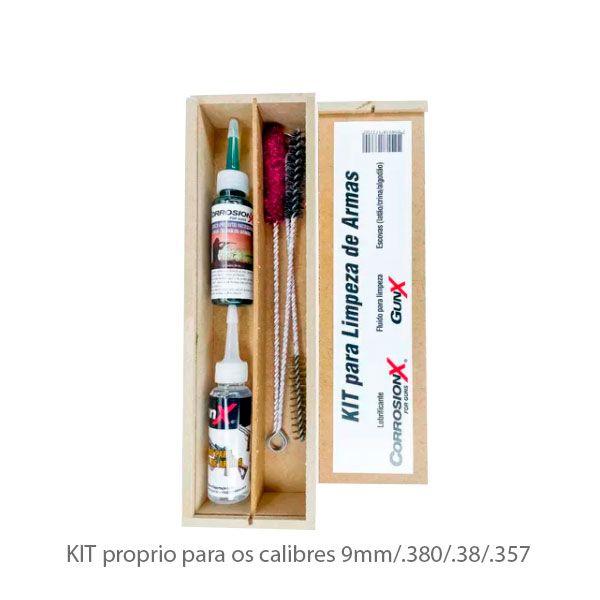 Kit De Limpeza P/ Armas 9mm/.380/.38/.357 Corrosion X