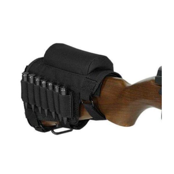 Kit Coronha Porta Munição Suporte Apoio Carabina Rifle Black