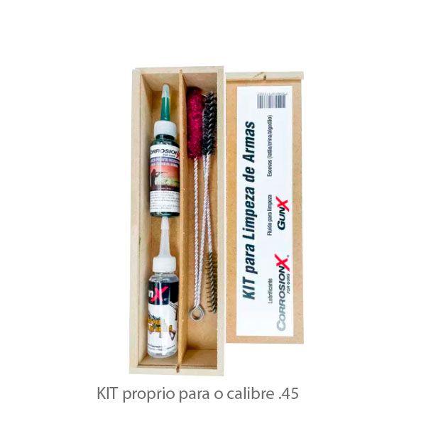 Kit De Limpeza P/ Armas Calibre .45 Corrosion X
