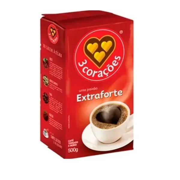 CAFE VACUO 3 CORACOES 250G EXTRA FORTE