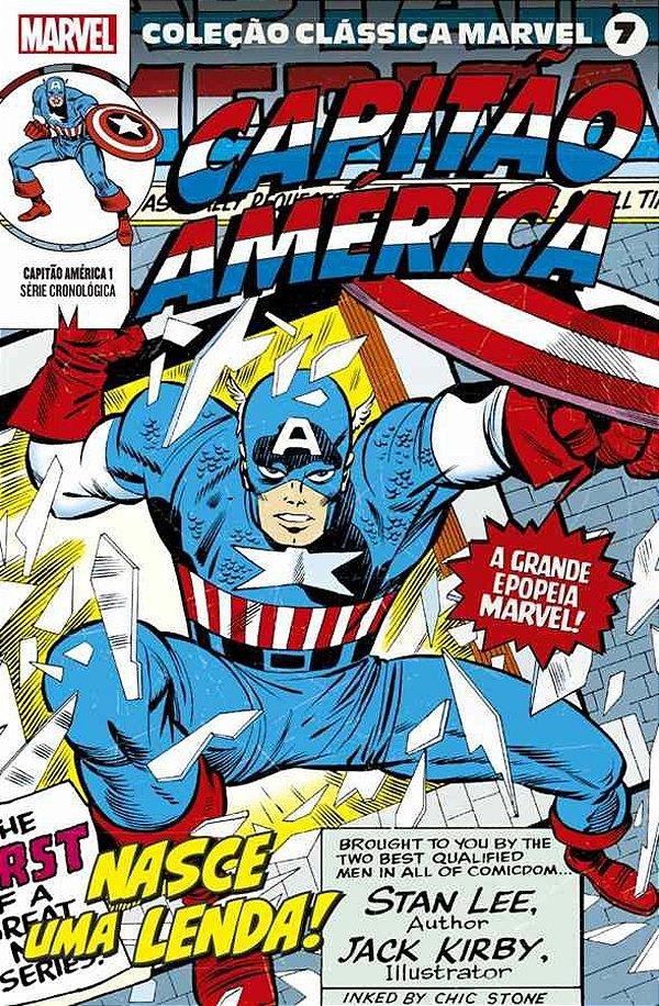Coleção Clássica Marvel Vol.07 - Capitão América Vol.01
