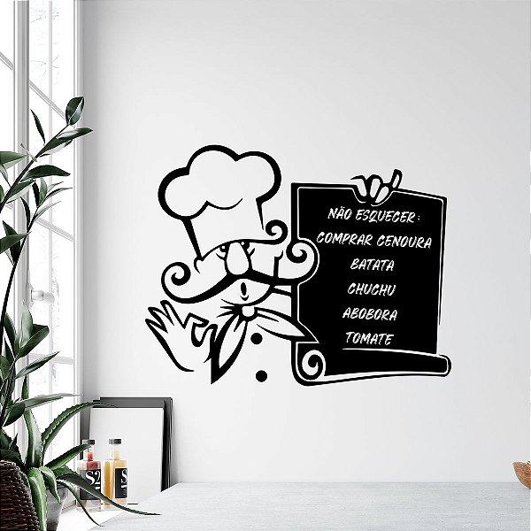 Adesivo Lousa Chef de Cozinha