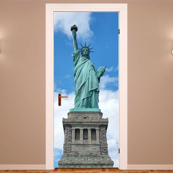 Adesivo Para Porta Estátua Da Liberdade