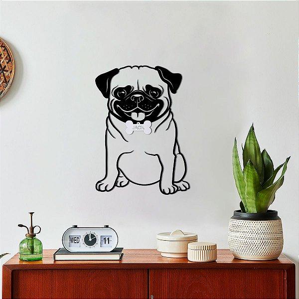 Quadro 3D Cachorro Pug
