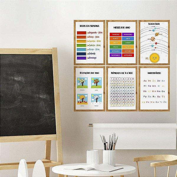 kit de Placas Decorativa Escola Fácil