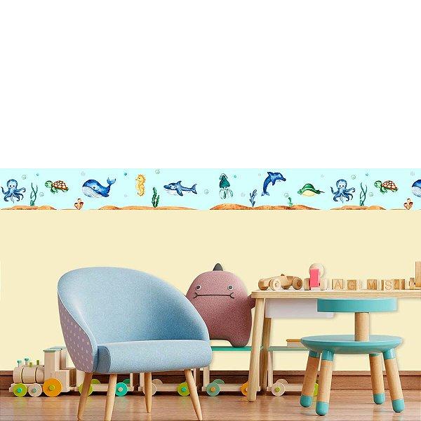 Faixa Decorativa Fundo Do Mar Cute