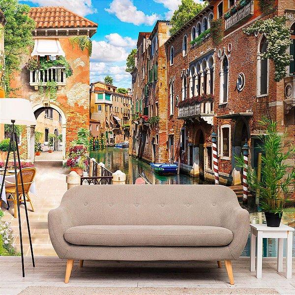 Papel de Parede Personalizado Rua de Veneza