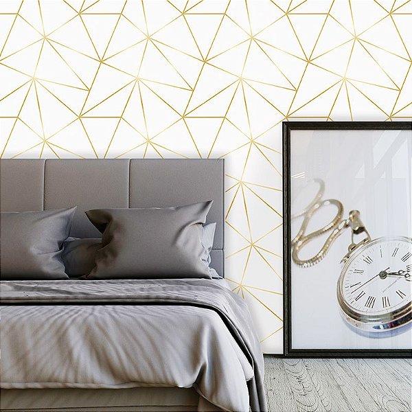 Papel de Parede Zara White Gold