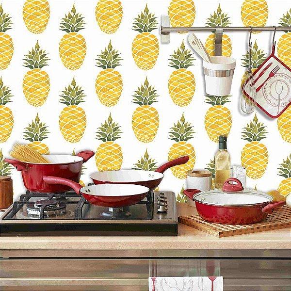 Papel de Parede Cozinha Abacaxi