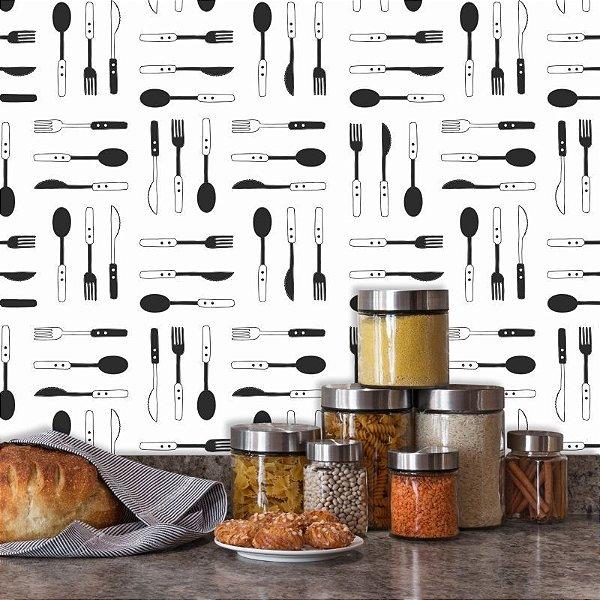 Papel de Parede Cozinha Talheres