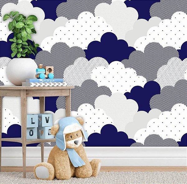 Papel de Parede Baby Nuvens Blue
