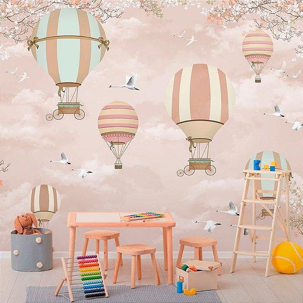 Papel de Parede Personalizado Balões Encantados
