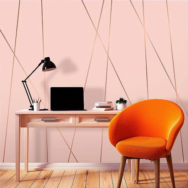 Papel de Parede Personalizado Zara Soft Pink