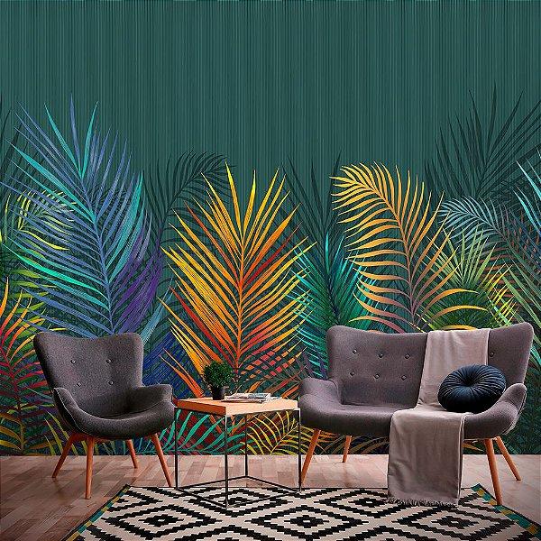Papel de Parede Personalizado Colorful Tropical
