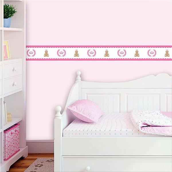 Faixa Decorativa Infantil Feminina Ursinhos