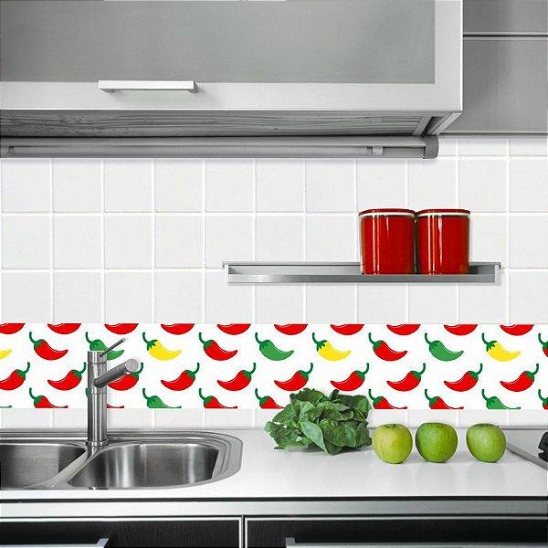 Faixa Decorativa para Cozinha Pimentas