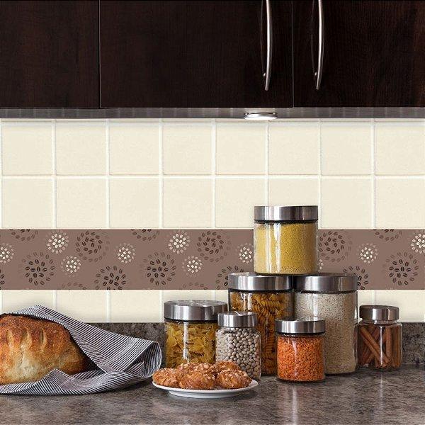 Faixa Decorativa para Cozinha Grãos de Café