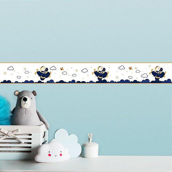 Faixa Decorativa Infantil Ursinho Aviador