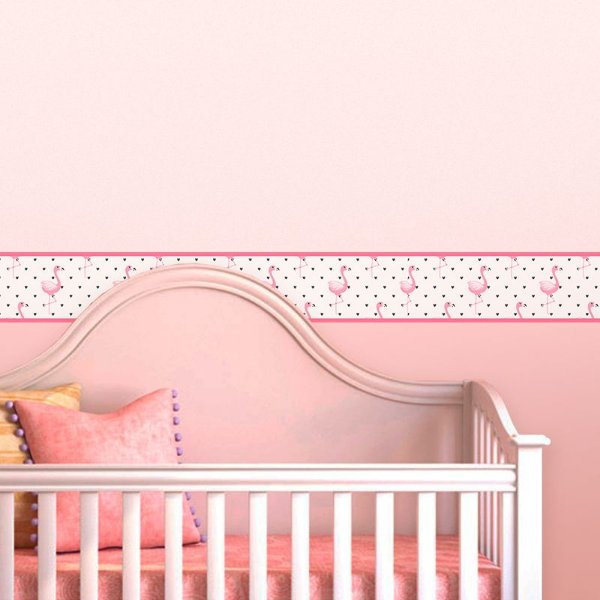 Faixa Decorativa Infantil Flamingos