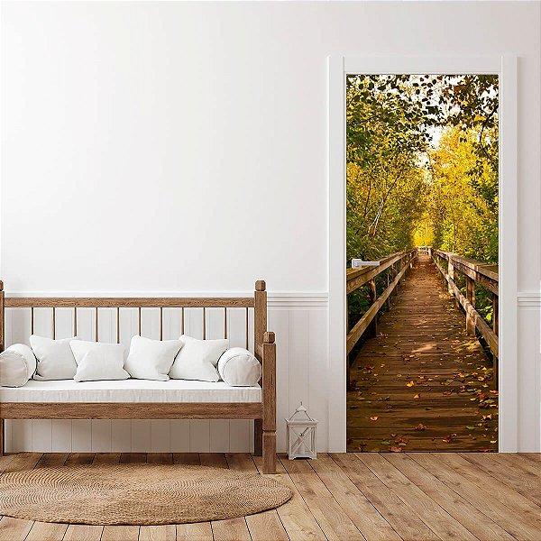 Adesivo Para Porta Ponte Forest