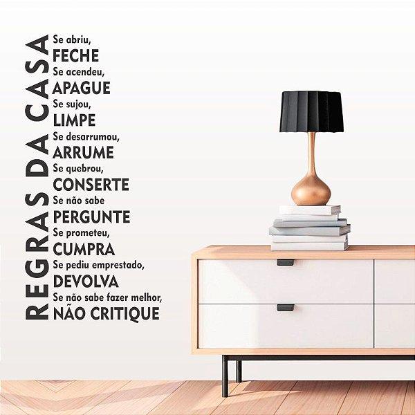 Adesivo Decorativo Frase ''Regras da Casa''