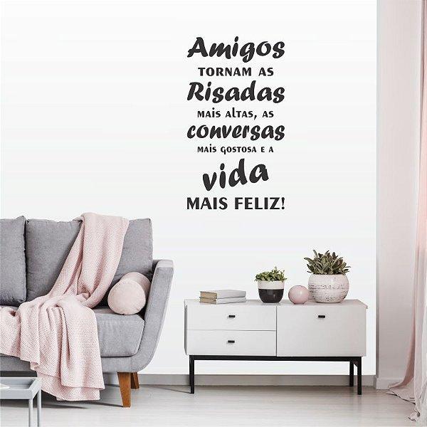 Adesivo Decorativo Frase ''Amigos''