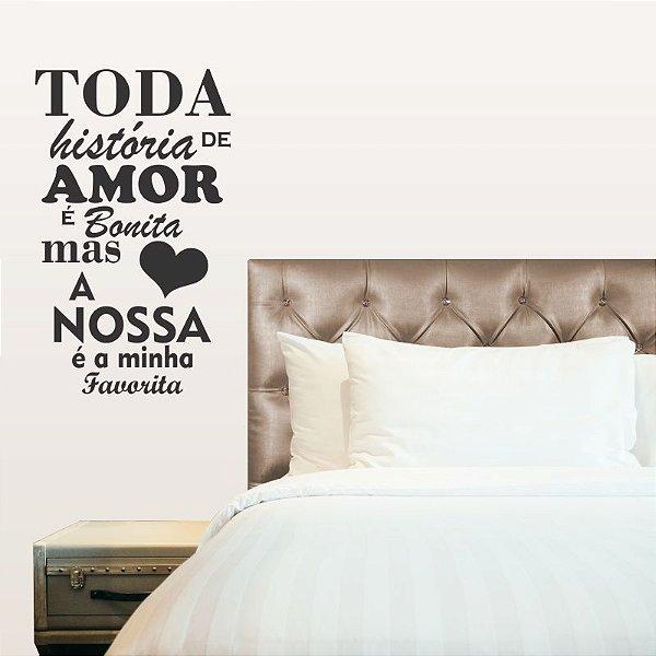Adesivo Decorativo Frase ''Nossa História ''