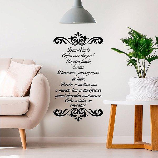 "Adesivo Decorativo Frase ""Sinta-se em Casa"""