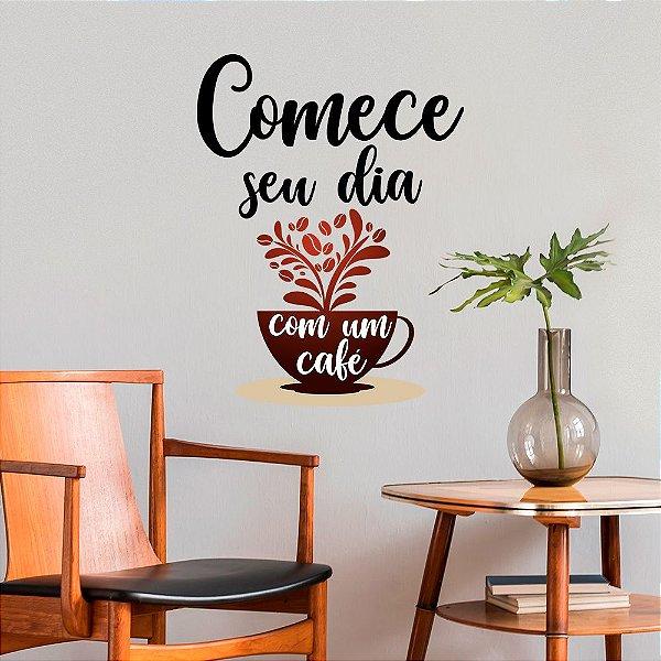 Adesivo de Parede Comece Seu Dia Com Um Café