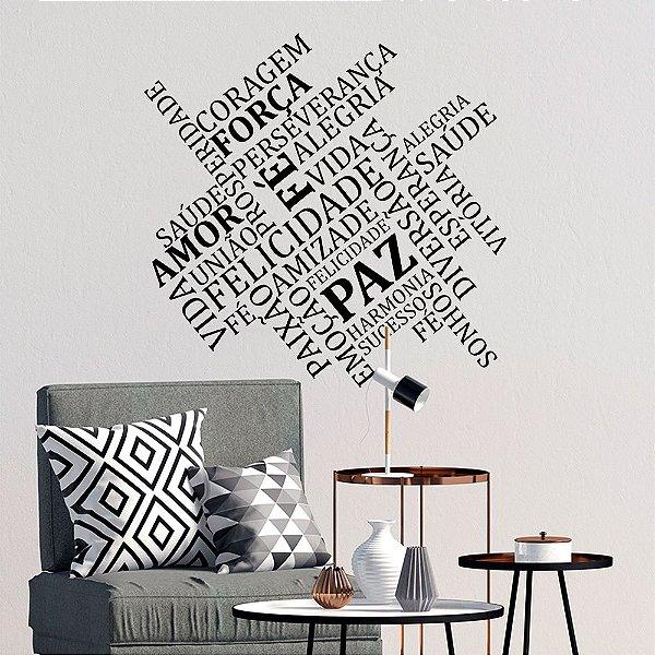 Adesivo Decorativo Palavras e Sentimentos