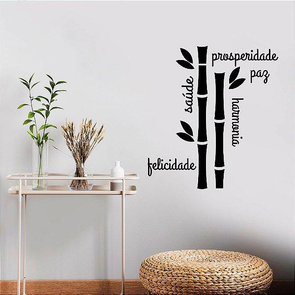 """Adesivo Decorativo """"Paz, Saúde e Prosperidade"""""""
