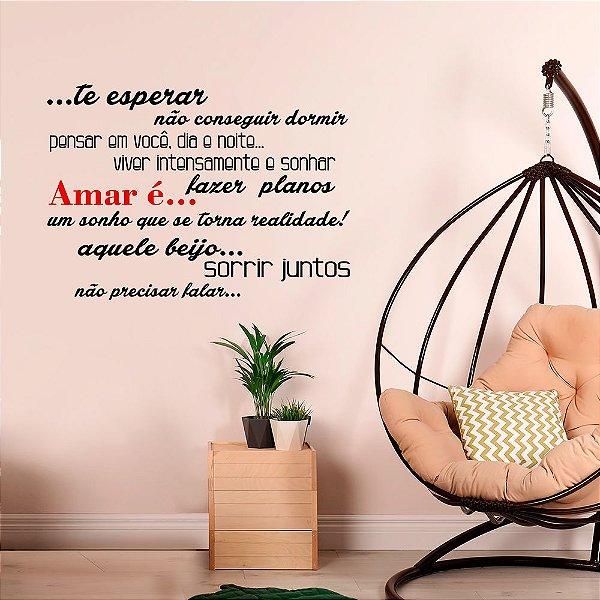 Adesivo Decorativo Frase Amar é...