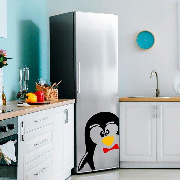 Adesivo Para Geladeira Pinguim