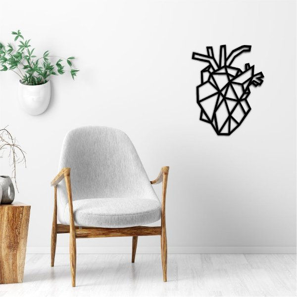 Quadro Decorativo 3D Coração Realist