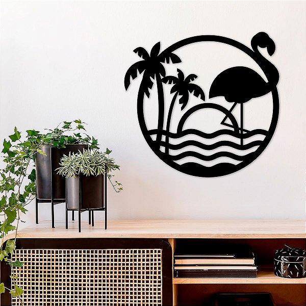 Quadro Decorativo 3D Flamingo