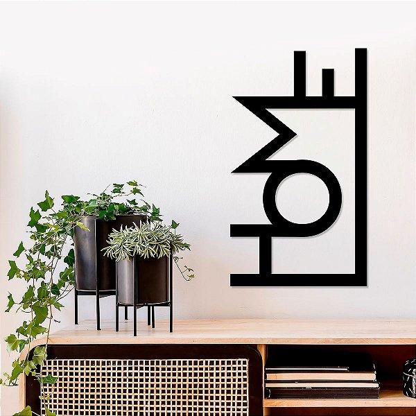 Palavra Decorativa de Parede Home Vertical