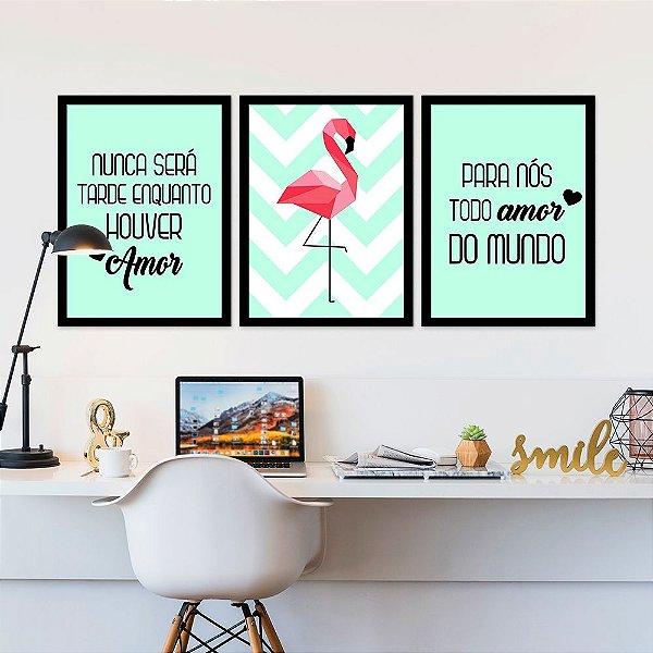 Kit Quadro Decorativo Pra Nós Todo Amor Do Mundo