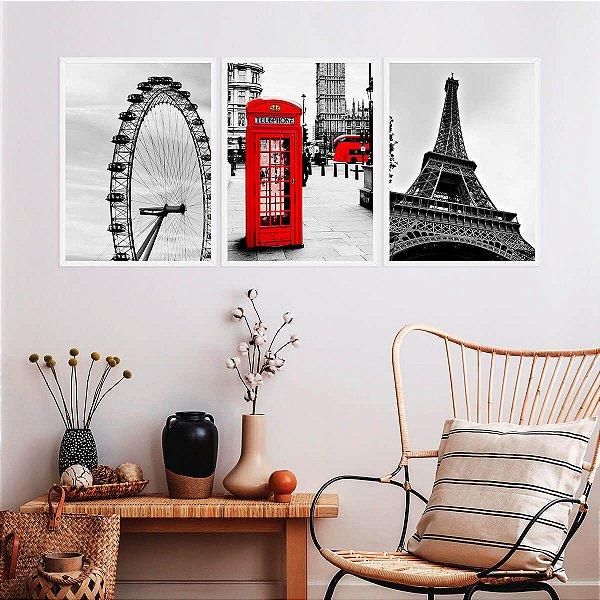 Kit Quadro Decorativo Londres