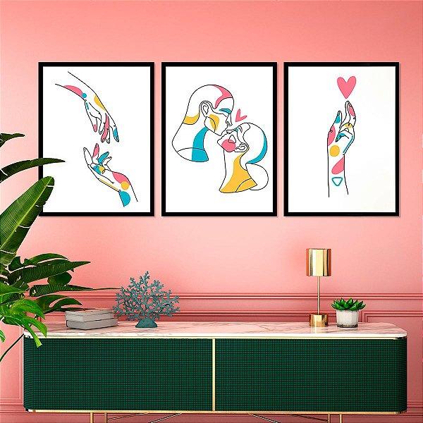 Kit Quadro Decorativo Touch Of Love