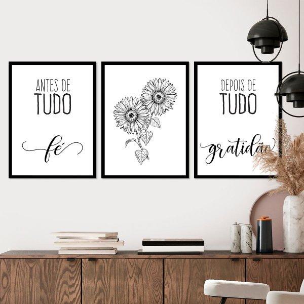 Kit Quadro Decorativo Fé