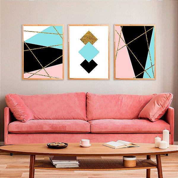 Kit Quadro Decorativo Abstrato Luryan