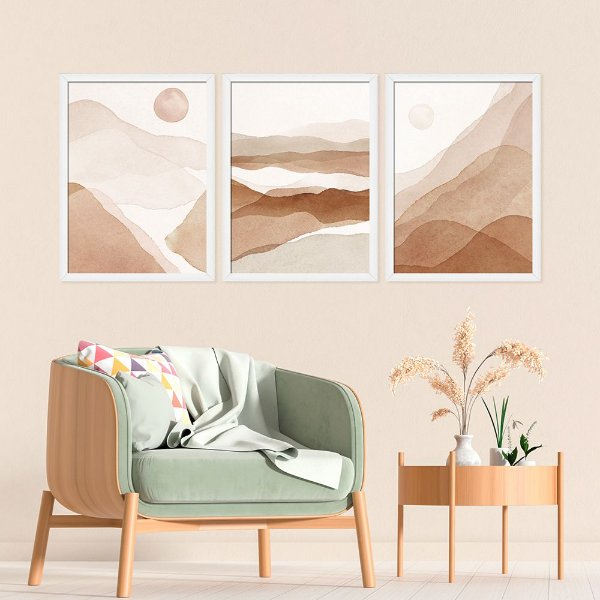 Kit Quadro Decorativo Deserto