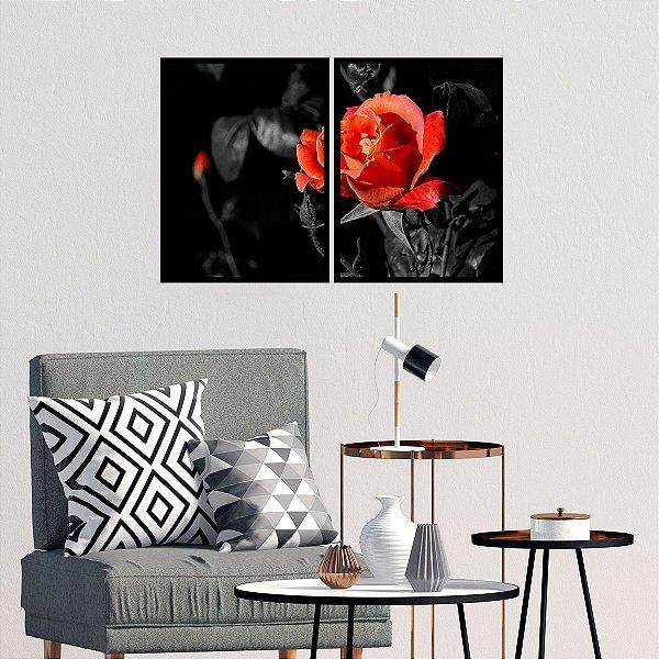 Kit Quadro Decorativo Red Rose