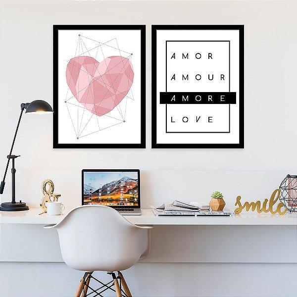Kit Quadro Decorativo Amore